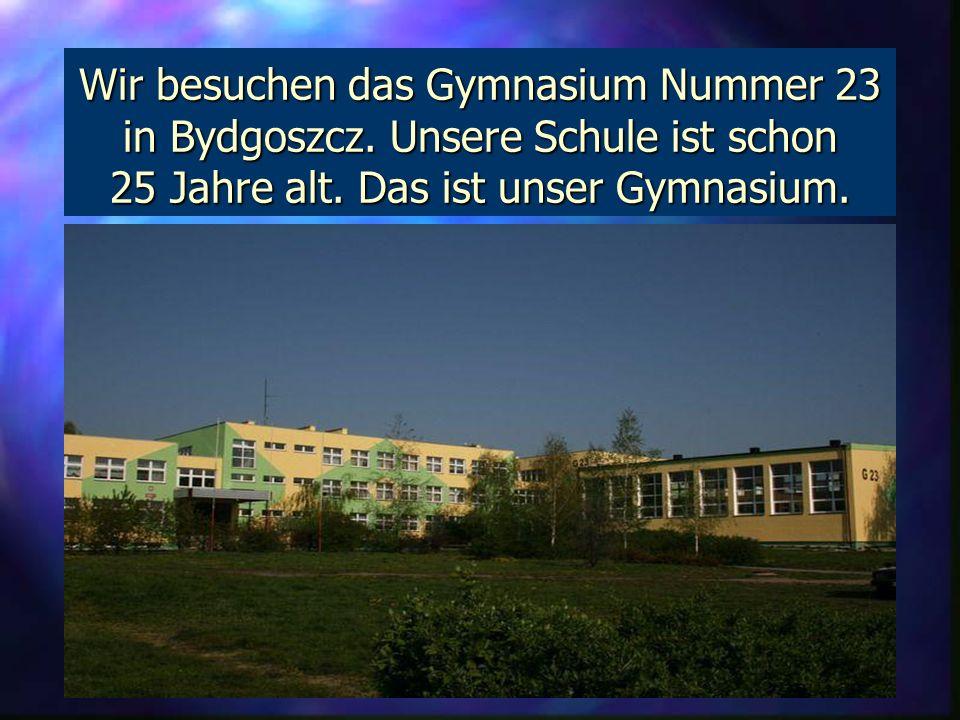 Wir besuchen das Gymnasium Nummer 23 in Bydgoszcz.
