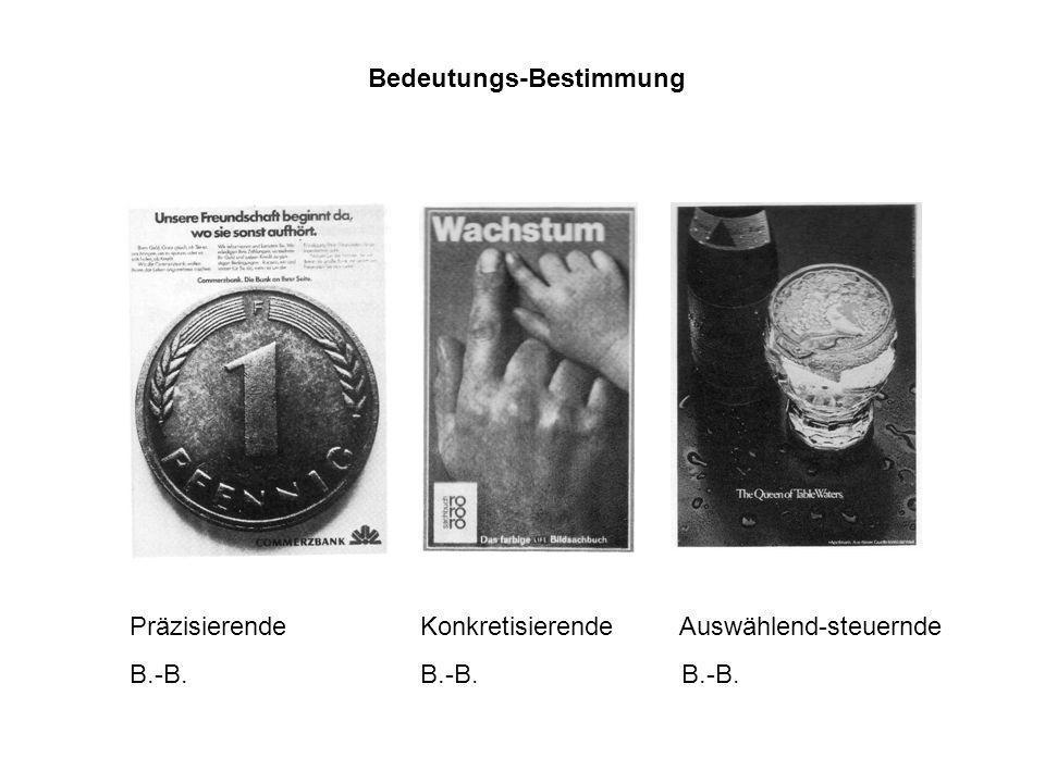 Bedeutungs-Bestimmung Präzisierende Konkretisierende Auswählend-steuernde B.-B. B.-B. B.-B.