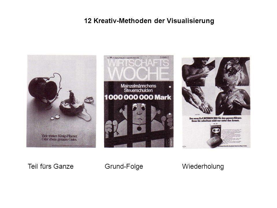12 Kreativ-Methoden der Visualisierung Steigerung Hinzufügung Bedeutungs- Bestimmung