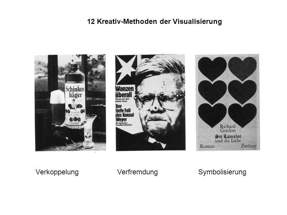 12 Kreativ-Methoden der Visualisierung Verkoppelung Verfremdung Symbolisierung