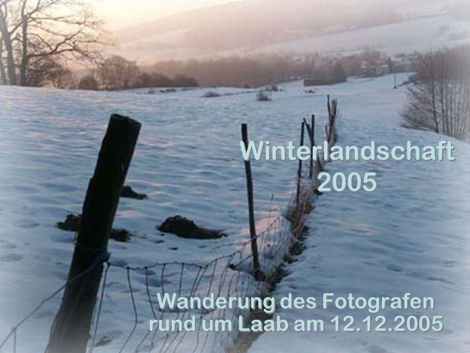 Winterlandschaft 2005 Wanderung des Fotografen rund um Laab am 12.12.2005