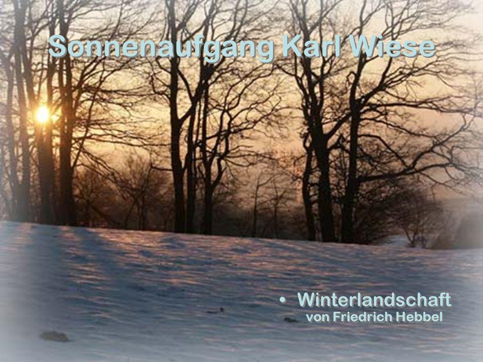 Sonnenaufgang Karl Wiese Winterlandschaft von Friedrich Hebbel