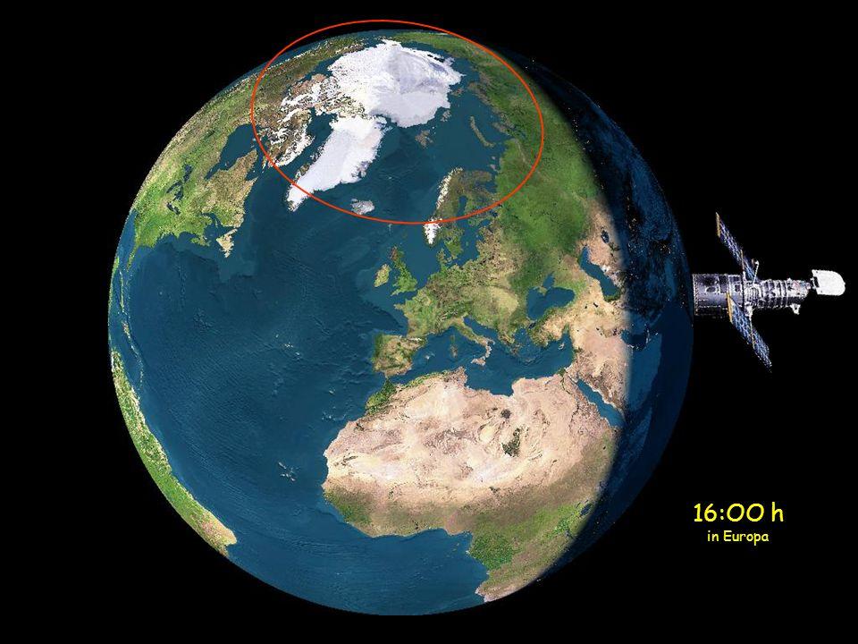 Wenn sich die Sonne dem Polarkreis, nähert, anstatt sich hinzulegen, fängt sie wieder an, zu steigen.
