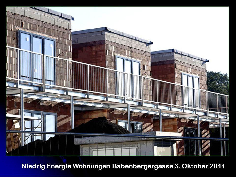 Niedrig Energie Wohnungen Babenbergergasse 3. Oktober 2011