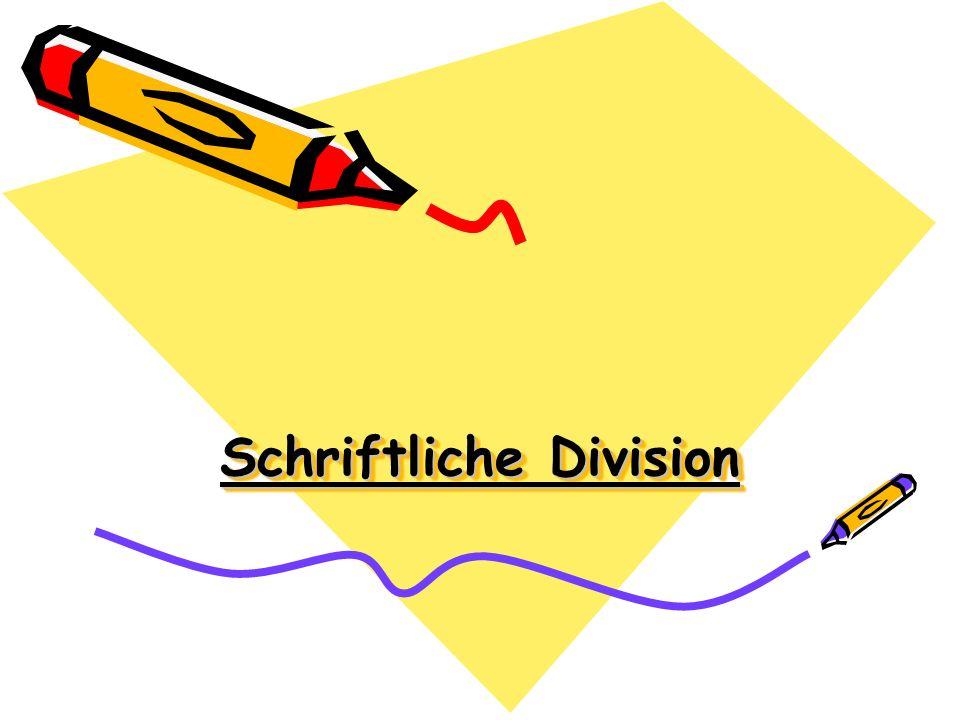 Schriftliche Division