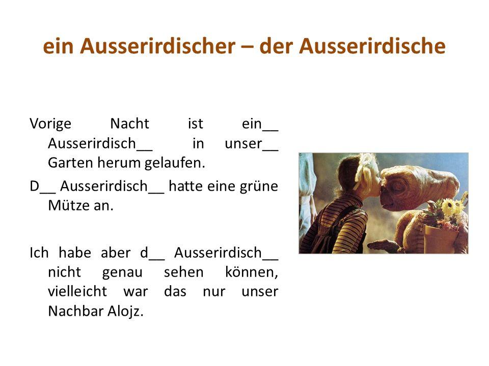 n-Deklination Patient Junge Prinz Polizist a) Herr Siebert hat ein Mädchen und einenen ___________.