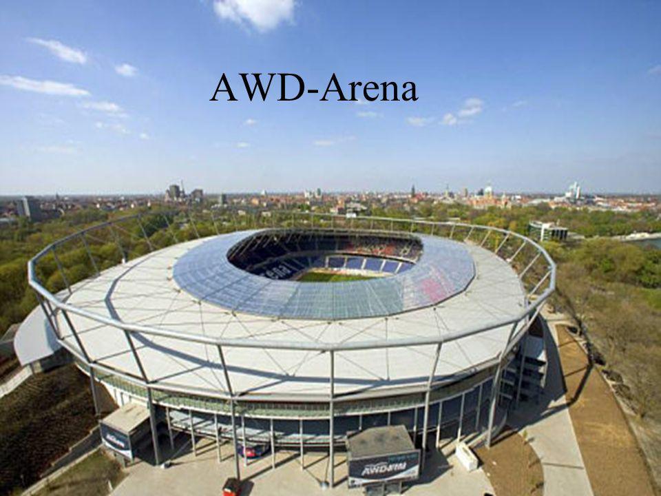 Aol Arena wurde 2000 eingeweiht Fasst 56.114 Zuschauer Bei WM 50.000 aus Sicherheitsgründen Plätze sind überdacht Heimatstadion des Hamburger SV (HSV) Vorzeigestadion in Europa Hamburg