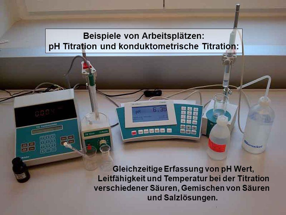 Beispiele von Arbeitsplätzen: Automatische Titration Bestimmung der Phosphorsäure in Coca-Cola: