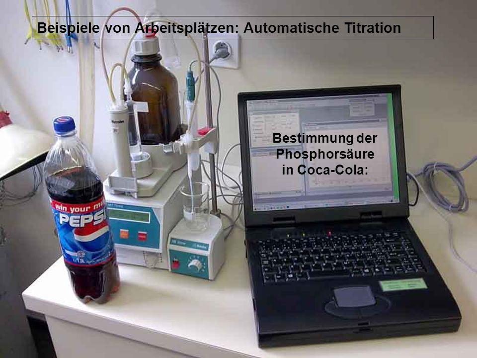 Die beiden Halbtage auswärts: Applikationslabor der Metrohm AG Herisau: Ionenchromatographie Titration etc.