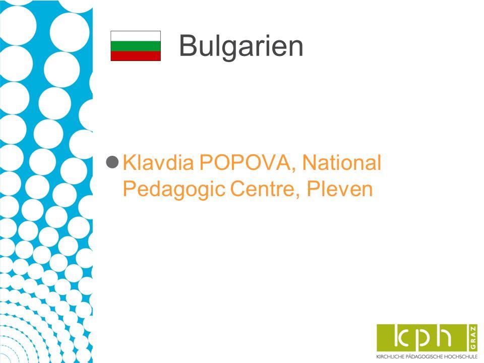 Bulgarien Klavdia POPOVA, National Pedagogic Centre, Pleven