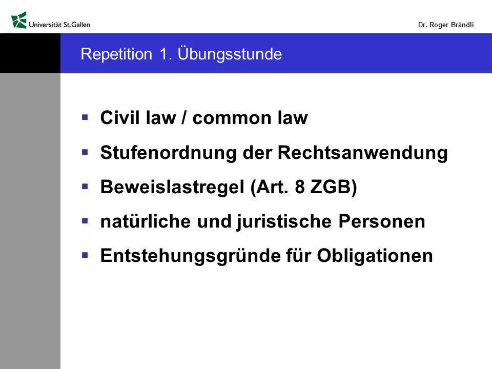Dr.Roger Brändli Repetition 1.