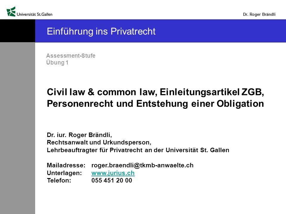 Dr.Roger Brändli Peter Merian schuldet Ihnen Fr. 10 000.-- Wo müssen Sie ihn betreiben bzw.