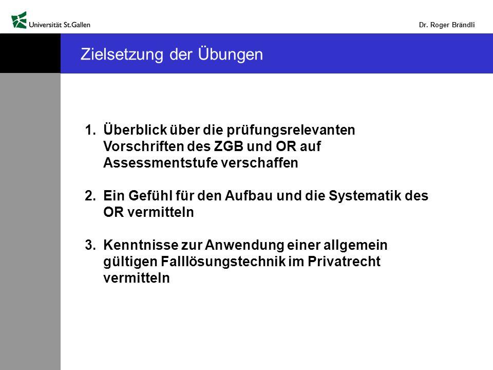 Dr.Roger Brändli Lösung Einführungsfall 4 a) Art.