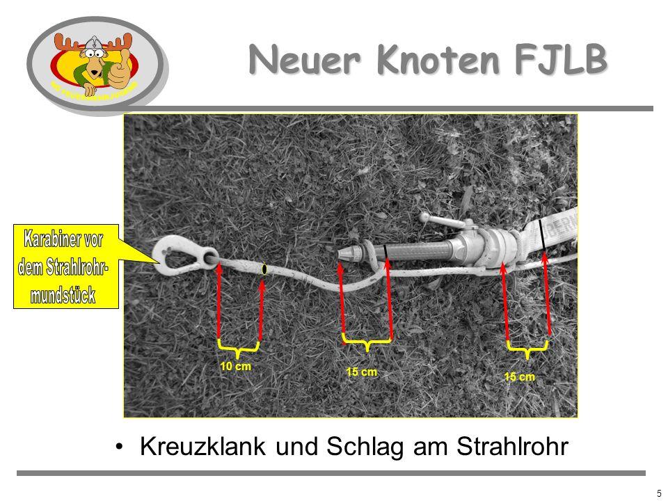 4 Neuer Knoten FJLB Kreuzklank und Schlag am Strahlrohr 10 cm