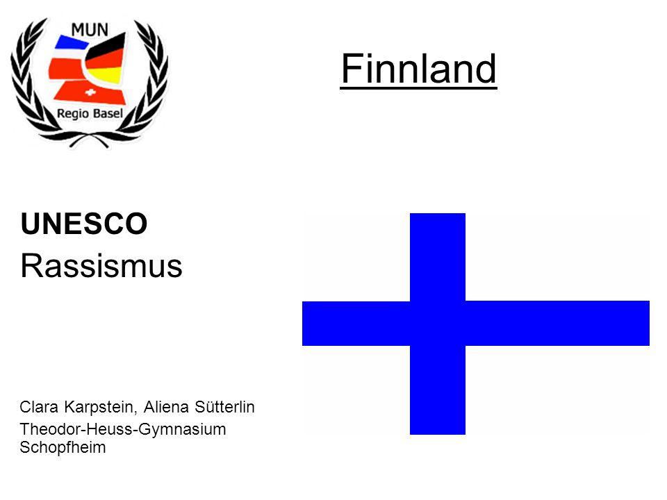 UNESCO Rassismus Clara Karpstein, Aliena Sütterlin Theodor-Heuss-Gymnasium Schopfheim Finnland