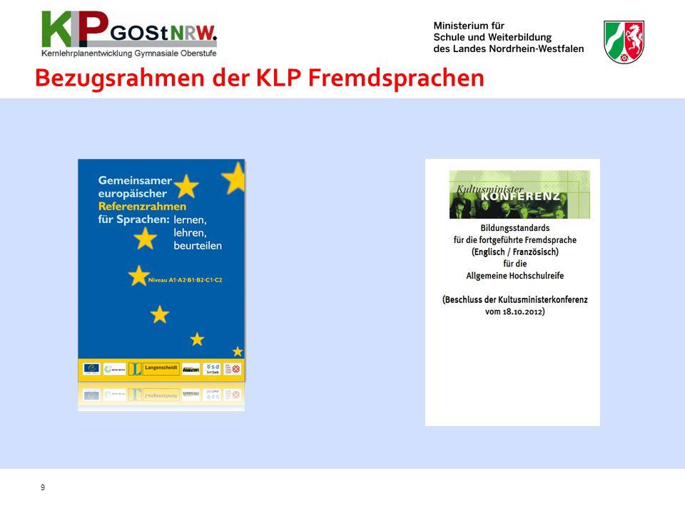 Bezugsrahmen der KLP Fremdsprachen 9
