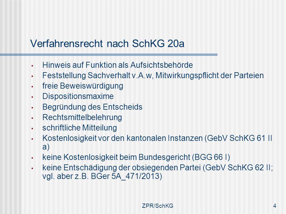 Verfahrensrecht nach SchKG 20a Hinweis auf Funktion als Aufsichtsbehörde Feststellung Sachverhalt v.A.w, Mitwirkungspflicht der Parteien freie Beweisw