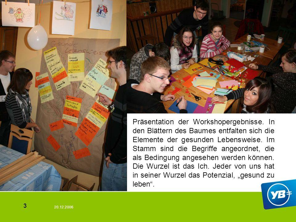 20.12.2006 3 Präsentation der Workshopergebnisse.