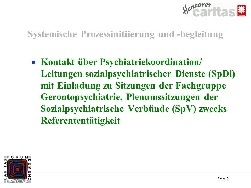 Seite 2 Systemische Prozessinitiierung und -begleitung Kontakt über Psychiatriekoordination/ Leitungen sozialpsychiatrischer Dienste (SpDi) mit Einlad