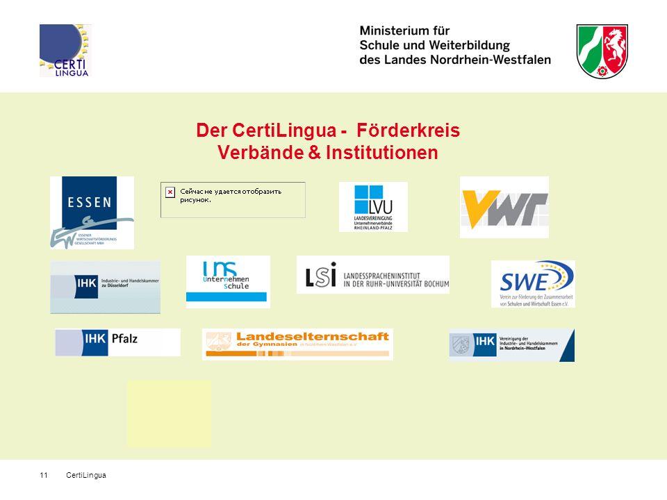CertiLingua11 Der CertiLingua - Förderkreis Verbände & Institutionen