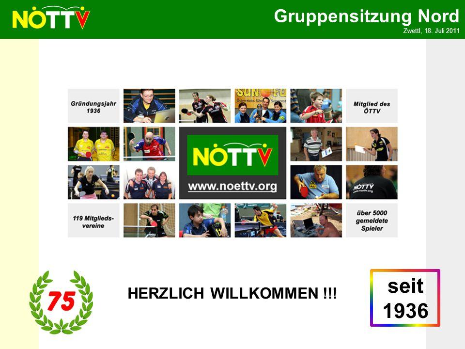 Gruppensitzung Nord Zwettl, 18. Juli 2011 HERZLICH WILLKOMMEN !!! seit 1936
