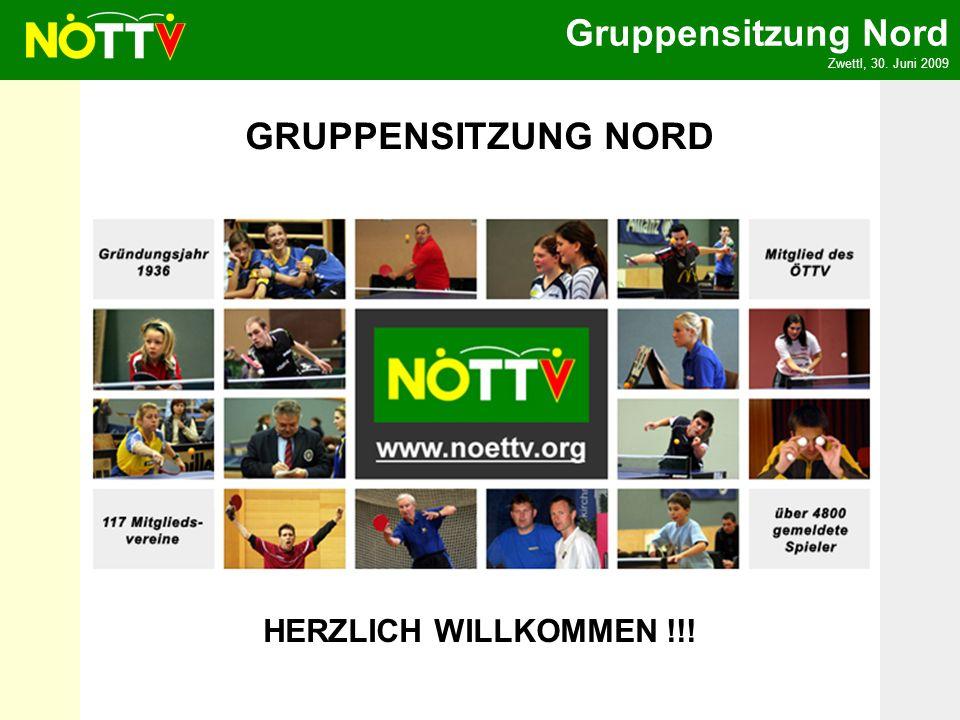 Gruppensitzung Nord Zwettl, 30. Juni 2009 HERZLICH WILLKOMMEN !!! GRUPPENSITZUNG NORD