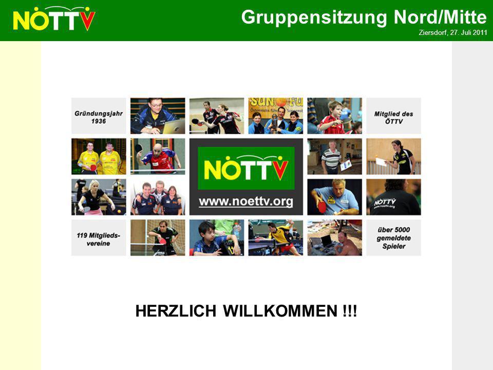 Gruppensitzung Nord/Mitte Ziersdorf, 27. Juli 2011 HERZLICH WILLKOMMEN !!!