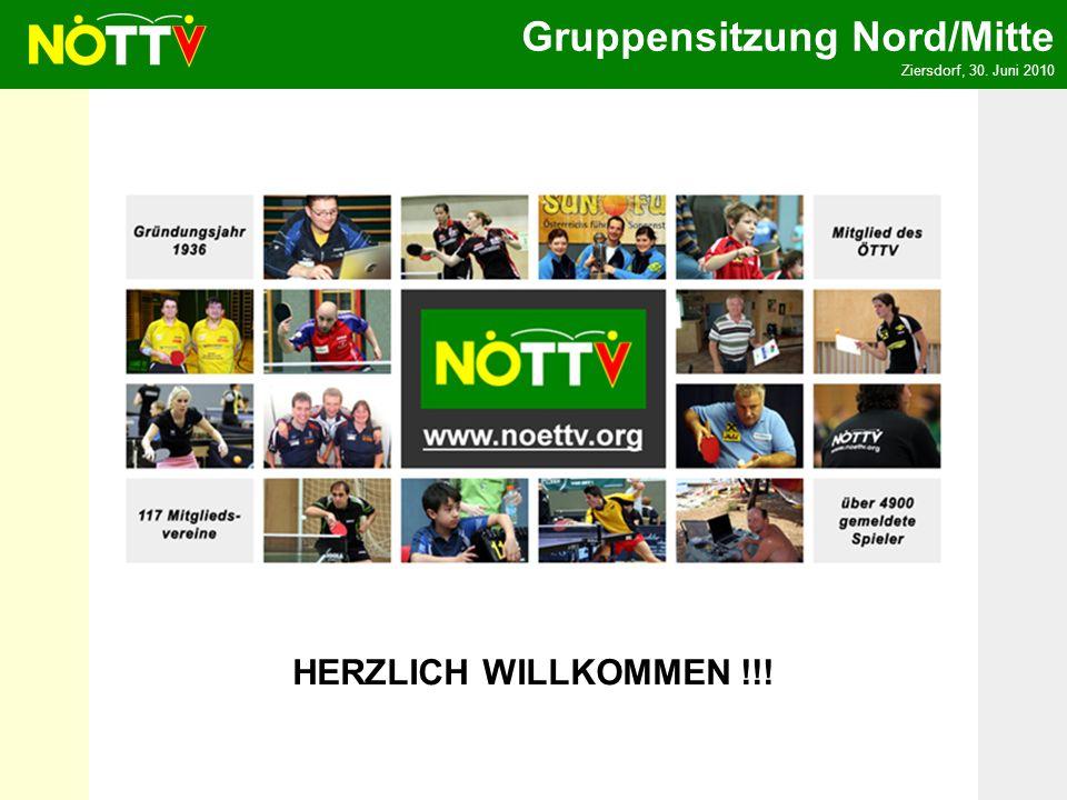 Gruppensitzung Nord/Mitte Ziersdorf, 30. Juni 2010 HERZLICH WILLKOMMEN !!!