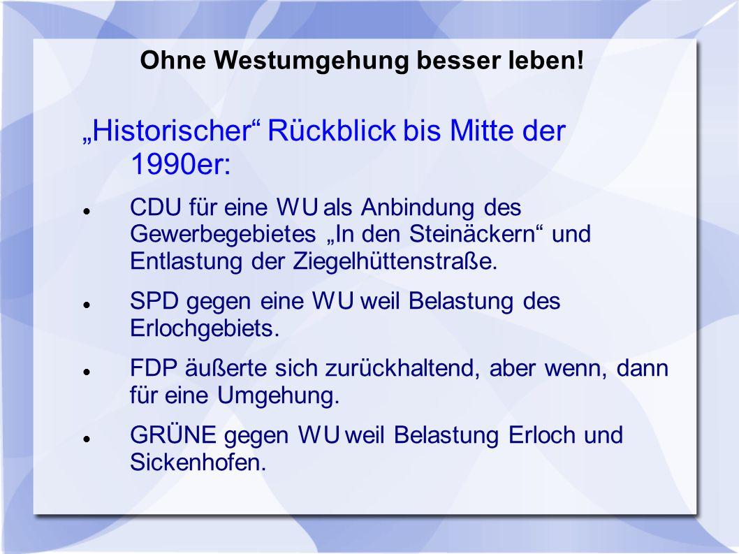 1996 das Jahr das alles änderte: Der Leitplan zur Stadtentwicklung wird vom Planungsbüro Hacker+Schnorr vorgelegt und im Stadtparlament einstimmig (!) verabschiedet.