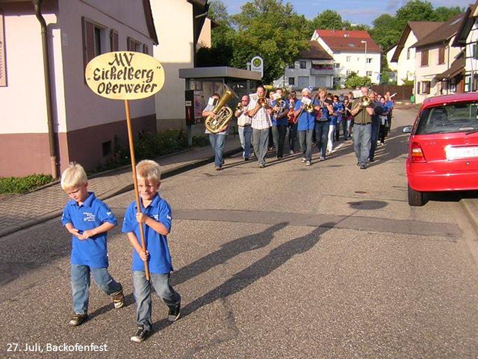 27. Juli, Backofenfest