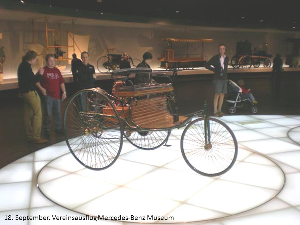 18. September, Vereinsausflug Mercedes-Benz Museum