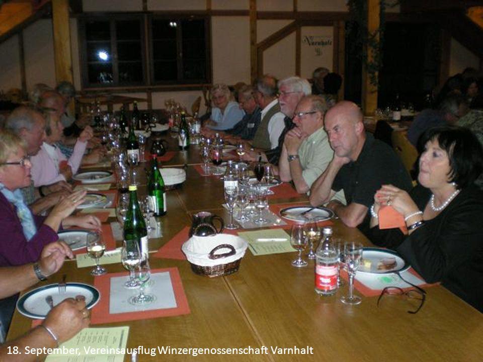 18. September, Vereinsausflug Winzergenossenschaft Varnhalt