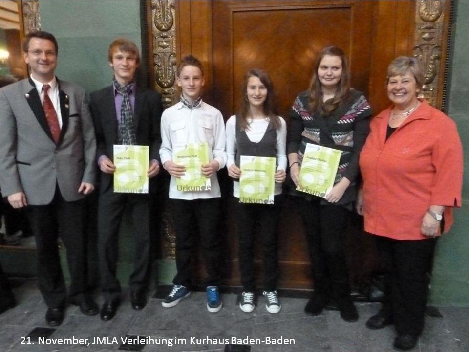 21. November, JMLA Verleihung im Kurhaus Baden-Baden