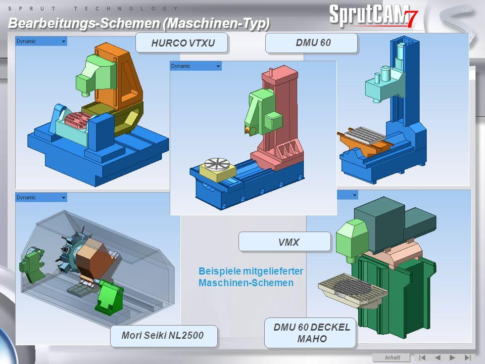 DMU 60 DECKEL MAHO HURCO VTXU Mori Seiki NL2500 Bearbeitungs-Schemen (Maschinen-Typ) VMX DMU 60 Inhalt Beispiele mitgelieferter Maschinen-Schemen
