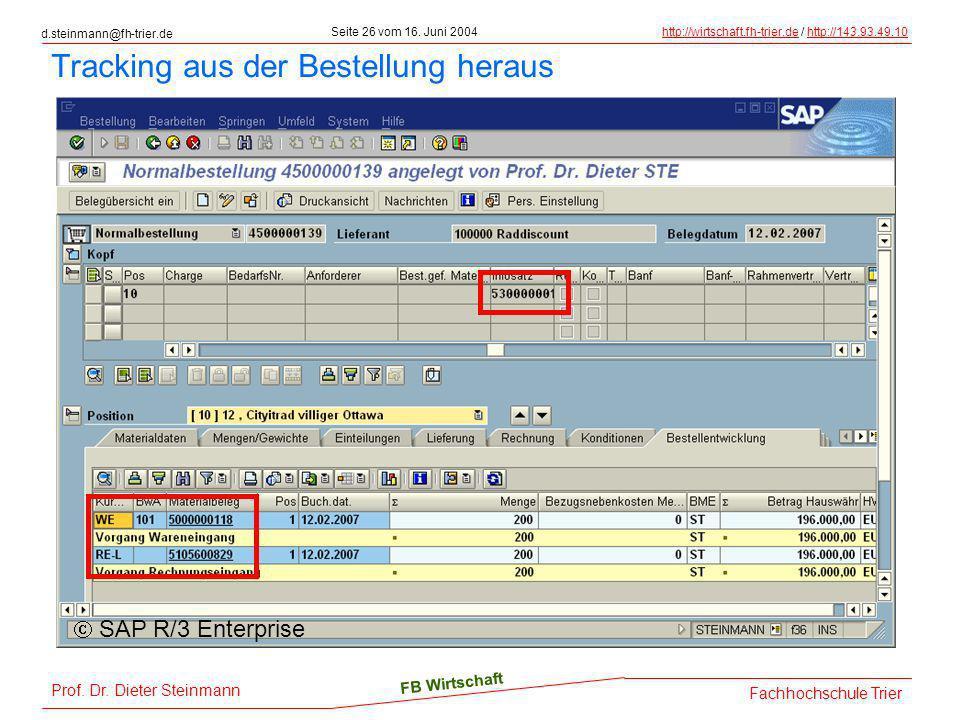 d.steinmann@fh-trier.de Seite 26 vom 16. Juni 2004http://wirtschaft.fh-trier.dehttp://wirtschaft.fh-trier.de / http://143.93.49.10http://143.93.49.10