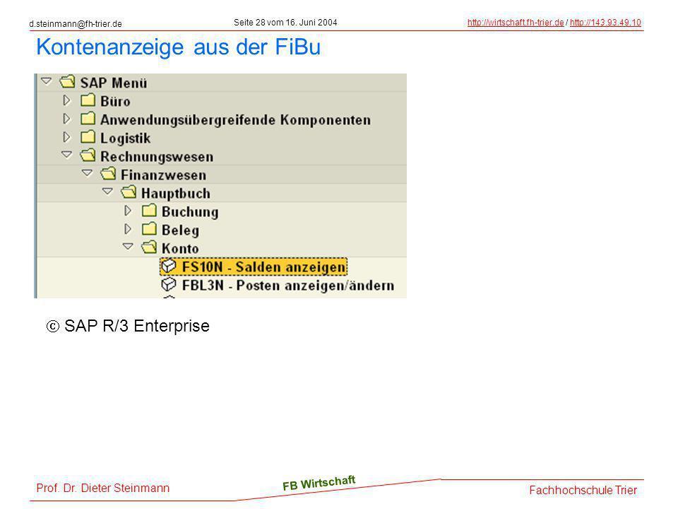 d.steinmann@fh-trier.de Seite 28 vom 16. Juni 2004http://wirtschaft.fh-trier.dehttp://wirtschaft.fh-trier.de / http://143.93.49.10http://143.93.49.10
