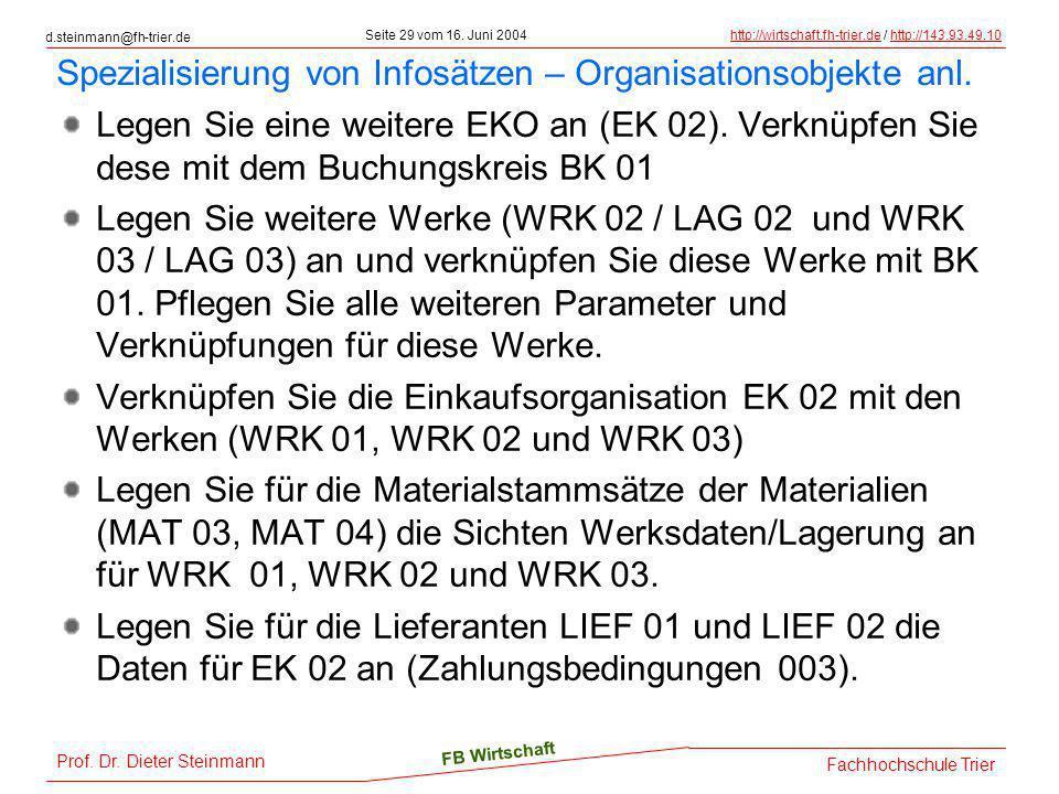 d.steinmann@fh-trier.de Seite 29 vom 16. Juni 2004http://wirtschaft.fh-trier.dehttp://wirtschaft.fh-trier.de / http://143.93.49.10http://143.93.49.10