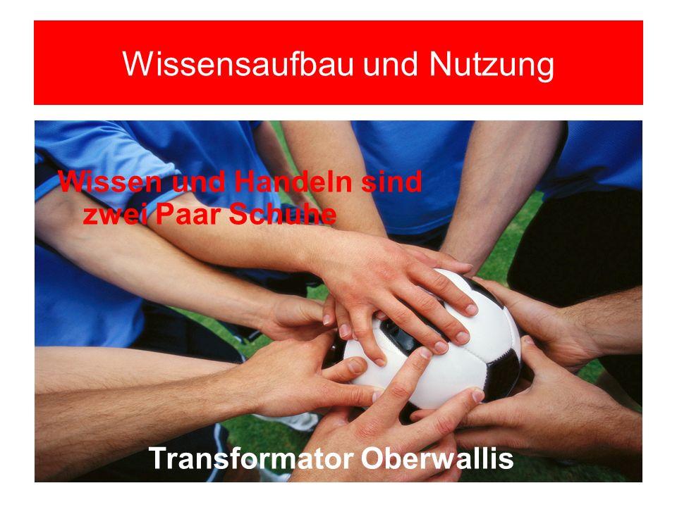 Wissensaufbau und Nutzung Transformator Oberwallis Wissen und Handeln sind zwei Paar Schuhe