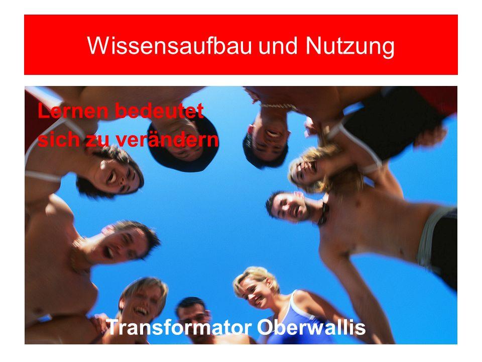 Wissensaufbau und Nutzung Transformator Oberwallis Lernen bedeutet sich zu verändern