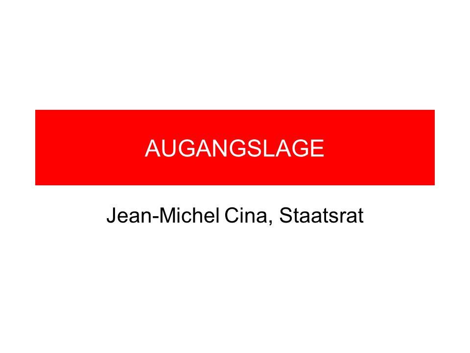 AUGANGSLAGE Jean-Michel Cina, Staatsrat