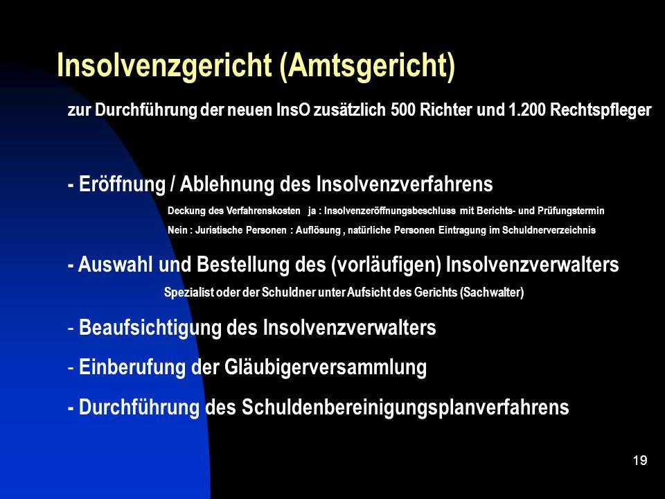 18 - Gläubiger mit berechtigtem Interesse - Schuldner ( GmbH spätestens 3 Wochen nach Eintritt der Zahlungsunfähigkeit ) Antragsteller Strafrechtliche