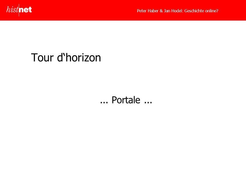 Tour dhorizon... Portale...