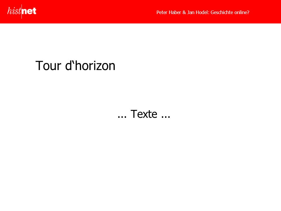 Tour dhorizon... Texte...