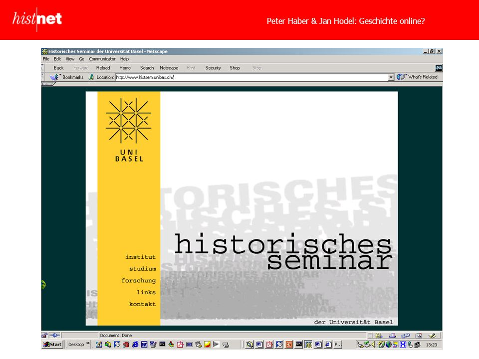 Peter Haber & Jan Hodel: Geschichte online?