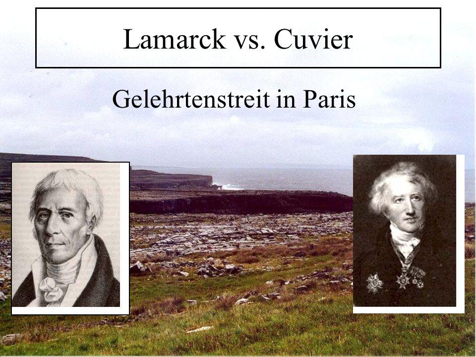 Lamarck vs. Cuvier Gelehrtenstreit in Paris