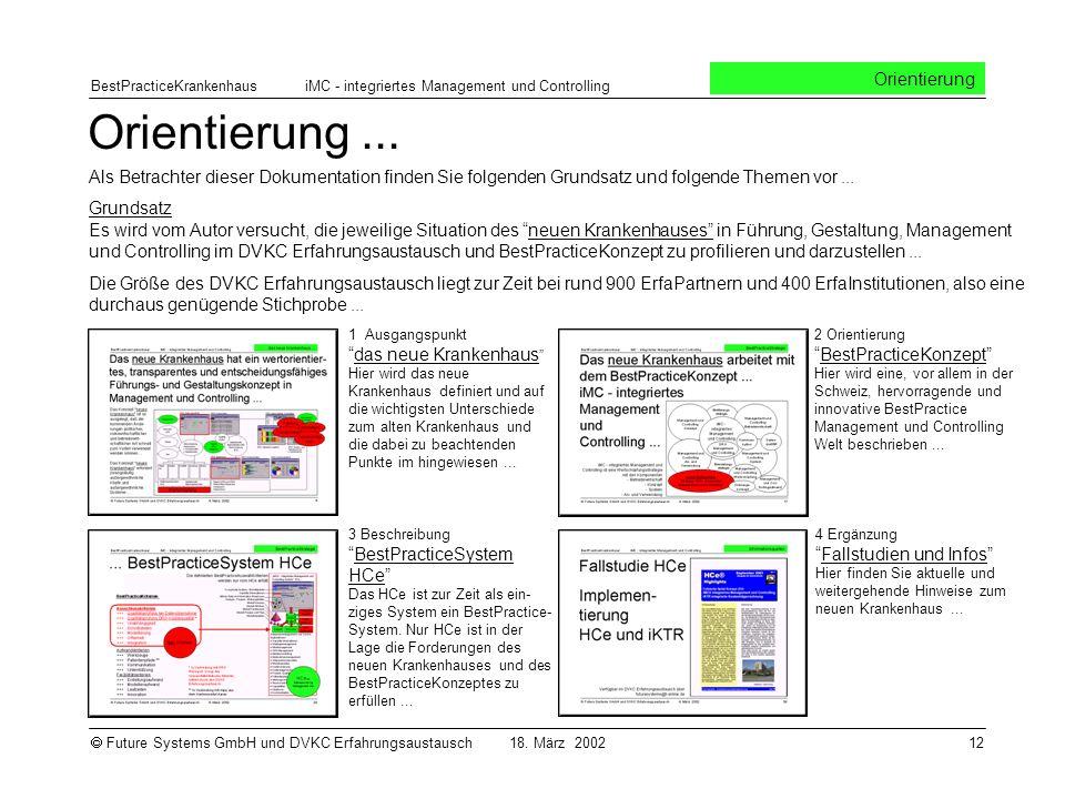 BestPracticeKrankenhaus iMC - integriertes Management und Controlling Future Systems GmbH und DVKC Erfahrungsaustausch 18.