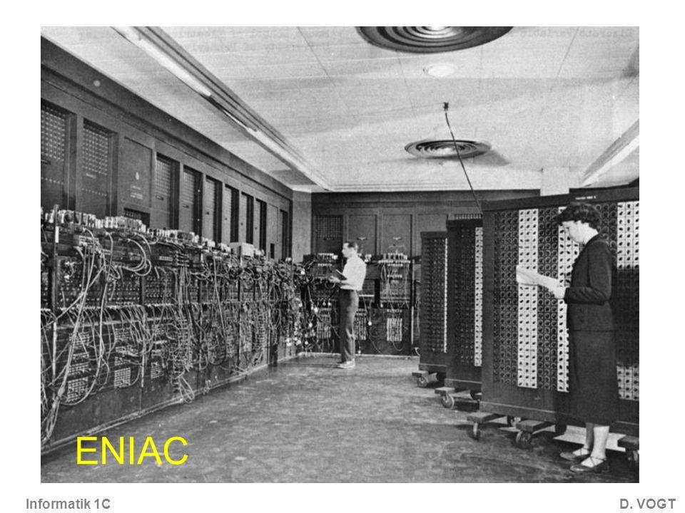 Informatik 1CD. VOGT ENIAC