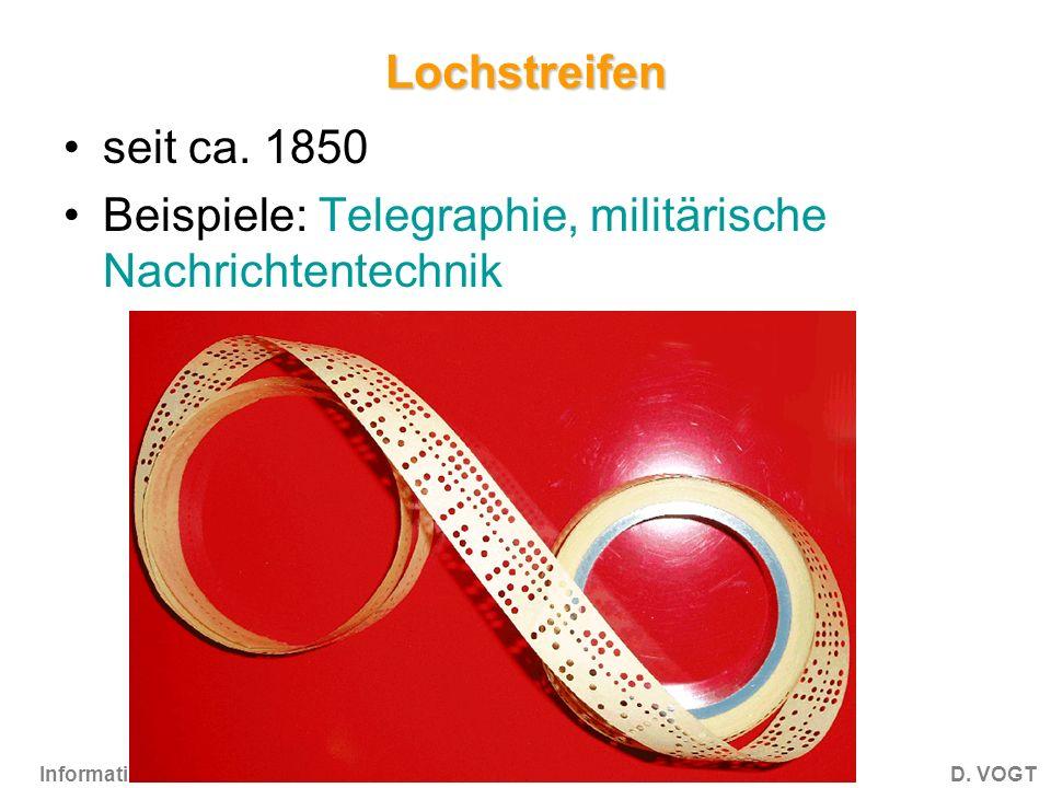 Informatik 1CD.VOGT Lochstreifen seit ca.