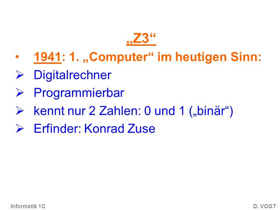 Informatik 1CD.VOGT Z3 1941: 1.