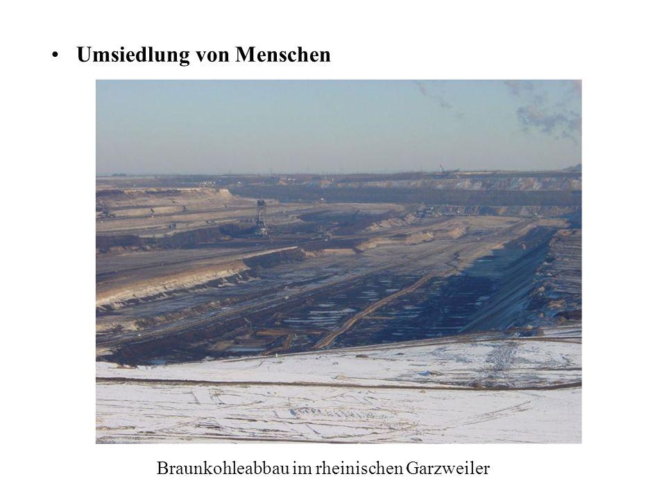 Tagebau Inden in Nordrheinwestfalen Zerstörung großer Flächen für Beschaffung der Brennstoffe